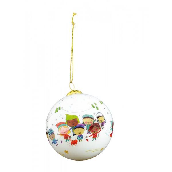 Boule de Noël blanche - Édition Noël 2016 - Boutique Solidaire UNICEF